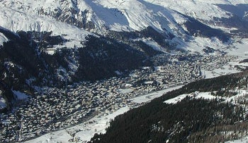 Davos, situated in the Swiss Alps, is a popular tourist destination.