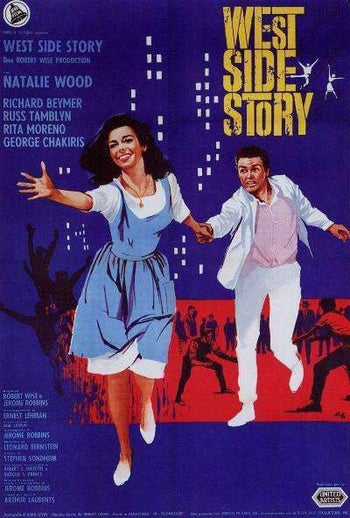"A poster for the 1961 film version of ""West Side Story."" Steven Spielberg is currently working on a remake."