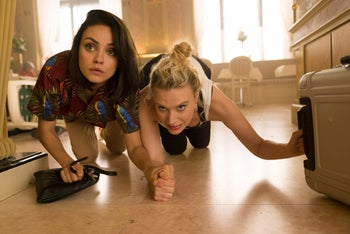"""Mila Kunis and Kate McKinnon in a scene from """"The Spy Who Dumped Me."""""""