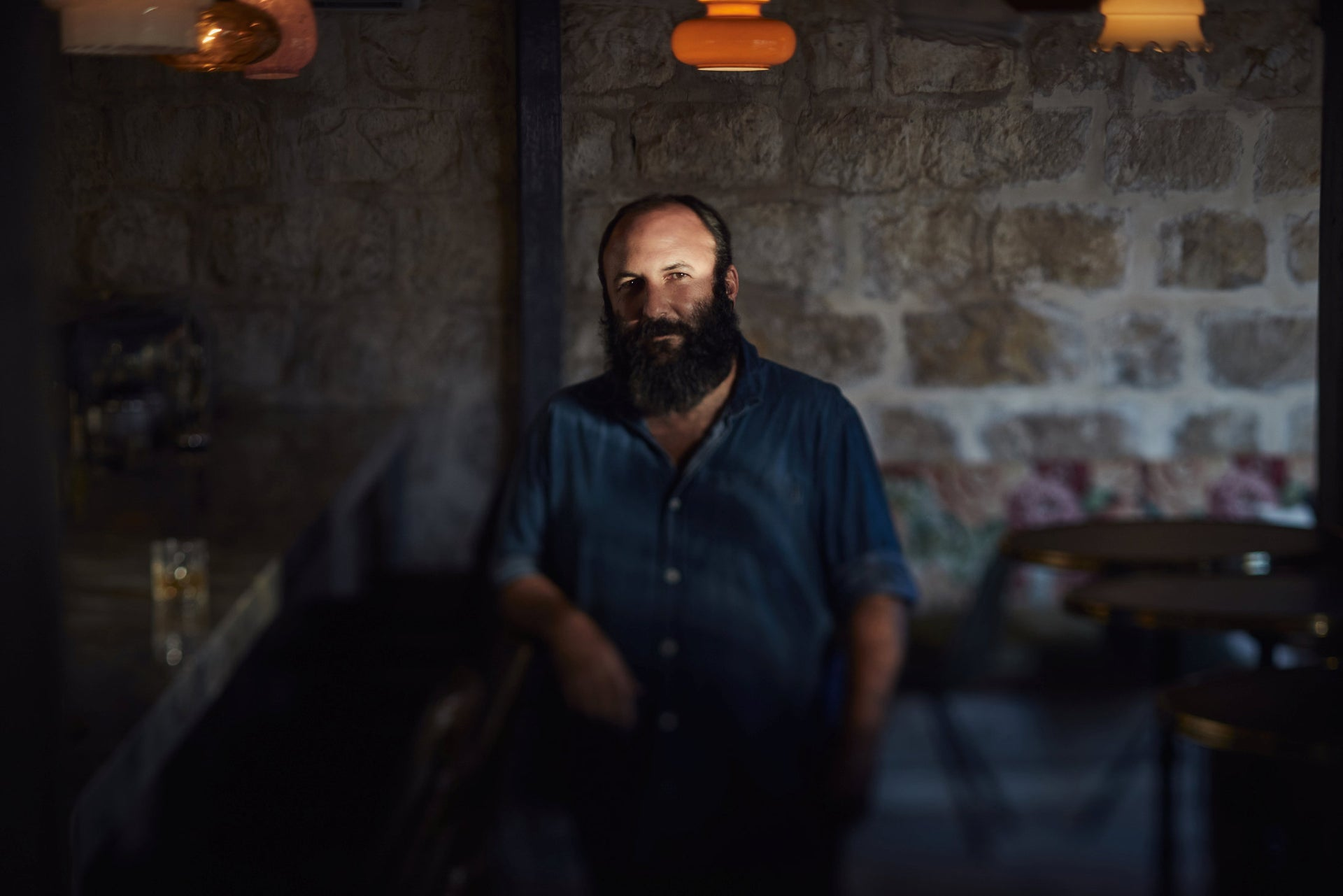 Hedai Ofaimme, one of the owners of Hadir bar in Jerusalem.