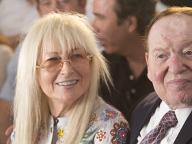 Miriam Adelson and her husband.