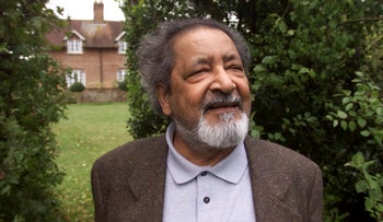 This 2001 file photo shows British author V.S. Naipaul in Salisbury, England.