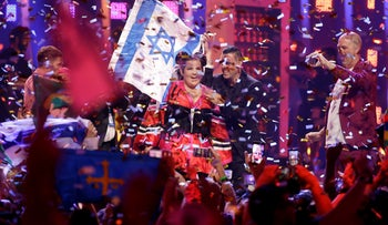 Netta Barzilai after winning the Eurovision song contest
