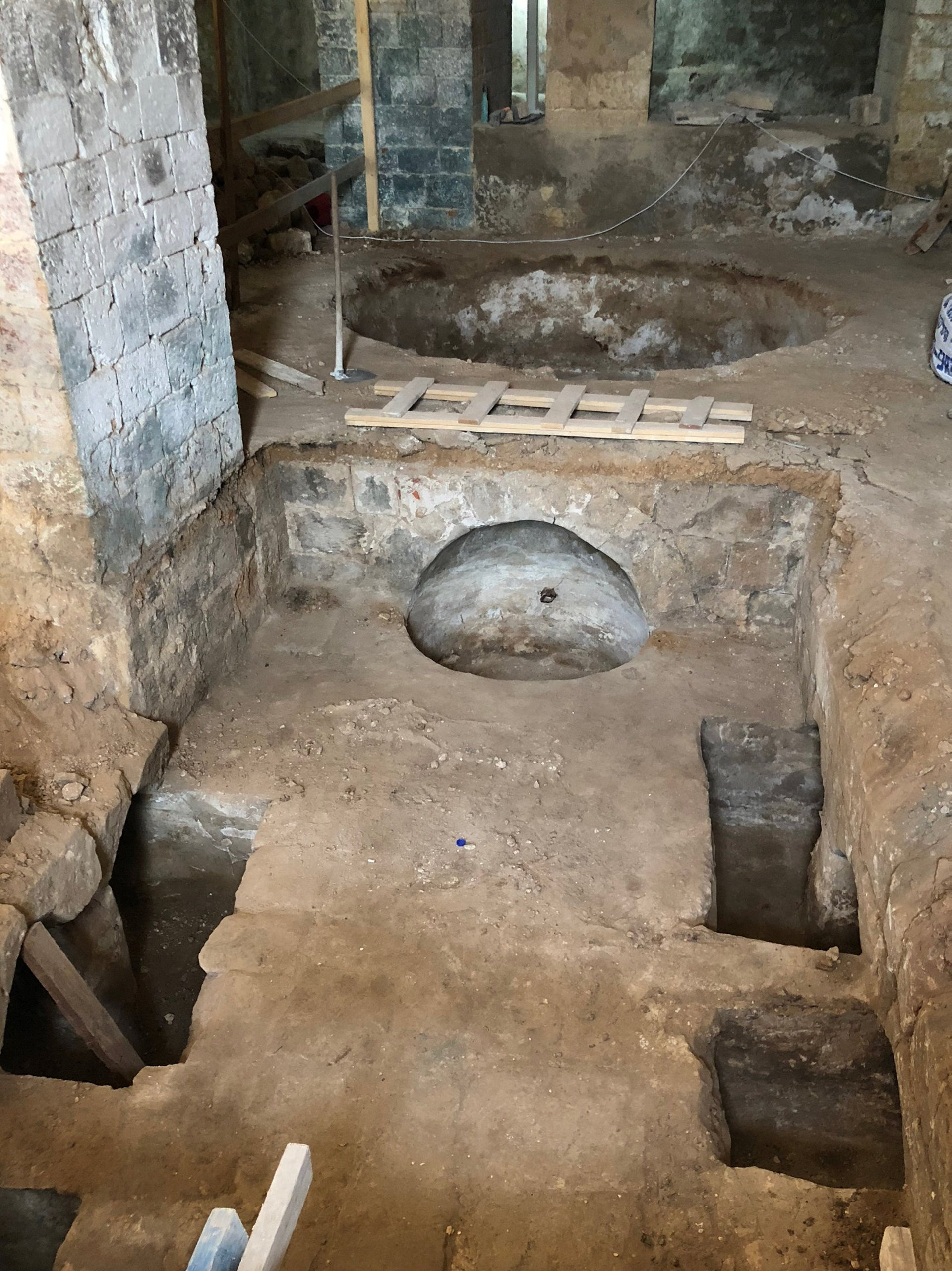Troughs of the 19th-century Ottoman soap factory found in Jaffa
