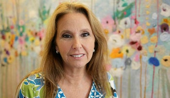 Shari Arison,the richest woman in Israel, poses for a photo during an interview with the Associate Press in her office in Tel Aviv, Israel.