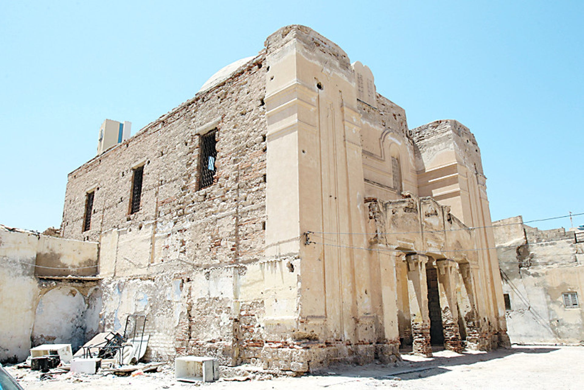 The ruins of the Dar al-Bishi synagogue in the walled old city of Tripoli, in 2011.