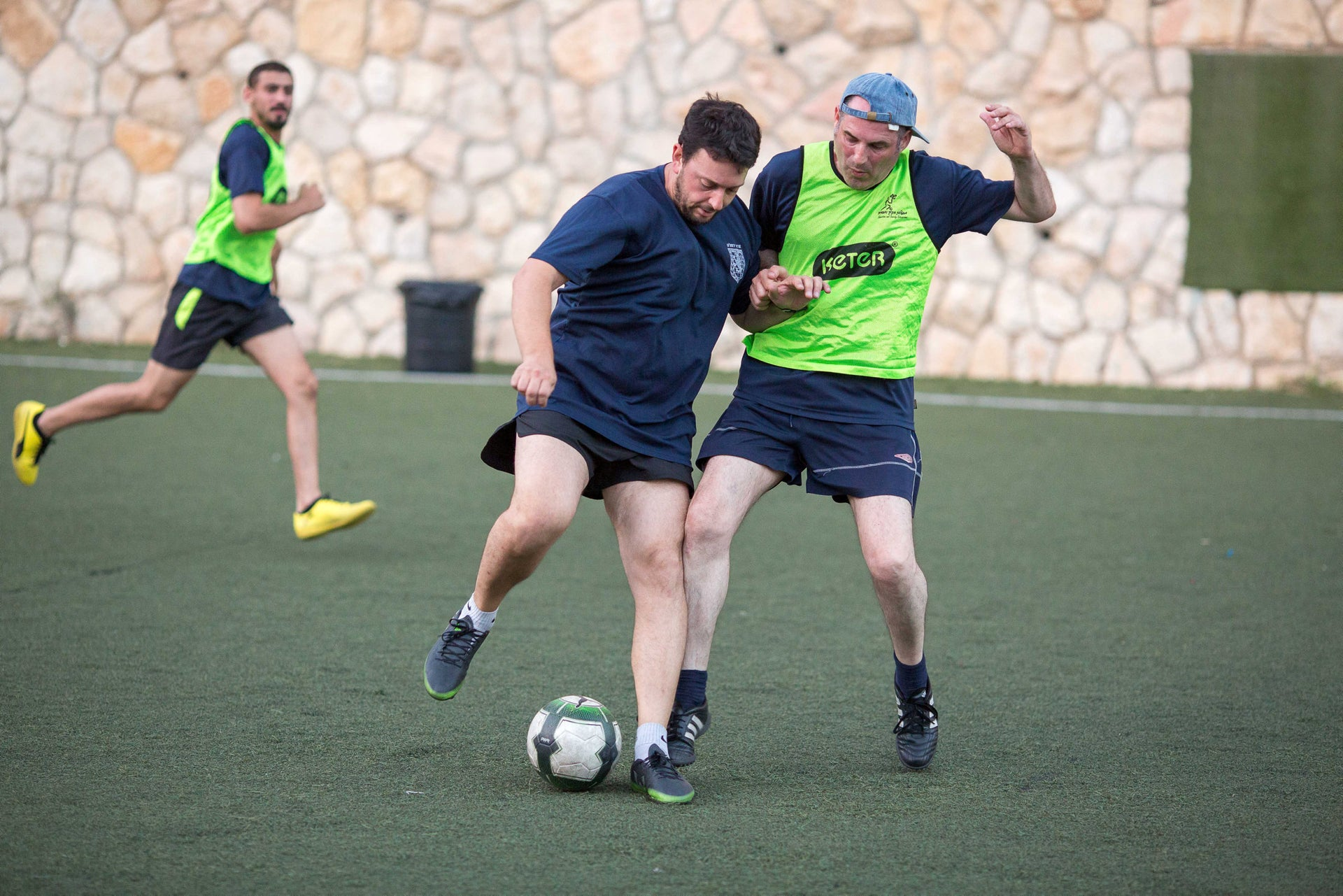 Practice session of the homeless soccer team in Jerusalem, July 2018