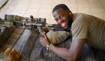 Draymond Green visits the police's special counter-terrorism unit.