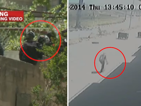 The killing of Nadim Nuwara, from two different angles