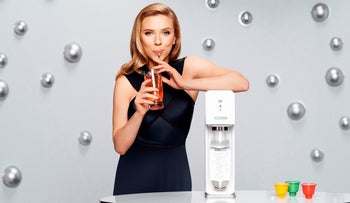 Scarlett Johansson in an ad for SodaStream.