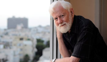 Israeli political activist, journalist, politician and writer Uri Avnery.