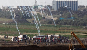Protests on the Gaza border, July, 2018.