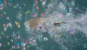 This image released by Warner Bros. Entertainment shows a scene from 'The Meg.'
