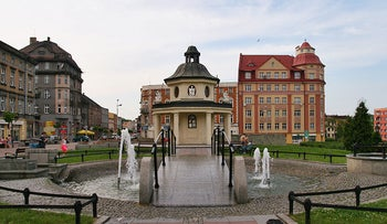 A square in the Polish town of Mysłowice.