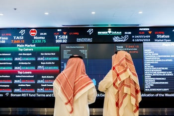 At the Saudi stock exchange, where Aramco is not about to appear