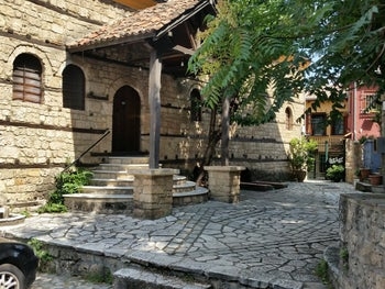 The old synagogue of Veria, Greece. Draws a small but steady stream of visitors.