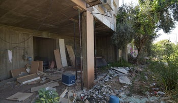 Damage from the earthquake in Tiberias, July 2018.