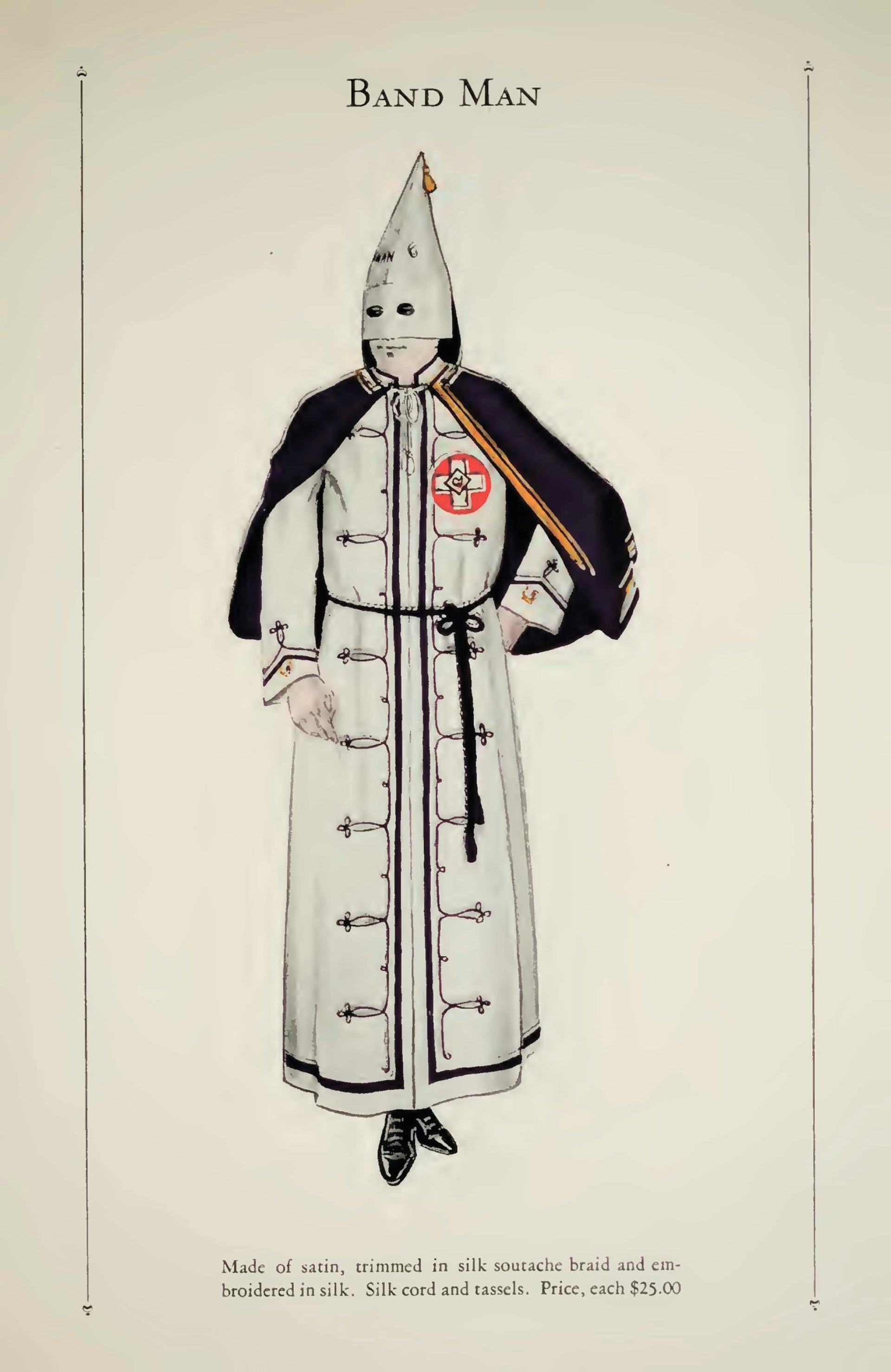 """From the """"Catalogue of Official Robes and Banners: Knights of the Ku Klux Klan"""" (1925)."""