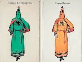 Robes featured in the Ku Klux Klan's 1925 catalog.