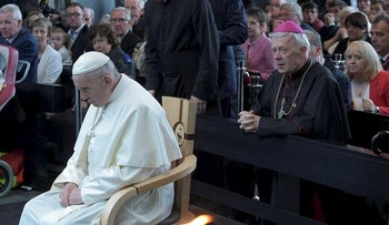 Pope Francis visits the Knock Shrine in Knock, Ireland August 26, 2018