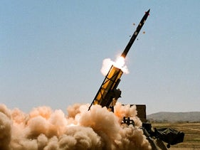 File photo: Rocket test by Israel's Military Industry.
