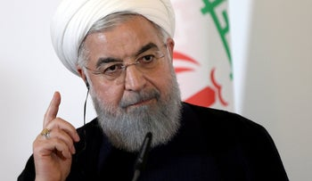 Iran's President Hassan Rohani attends a news conference at the Chancellery in Vienna, Austria July 4, 2018