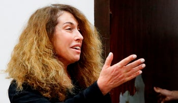 Stella Handler, CEO of the Israeli Bezeq telecommunication company, appears in the Israeli Justice Court in Tel Aviv in one of the graft probes threatening the Israeli prime minister on February 21, 2018.
