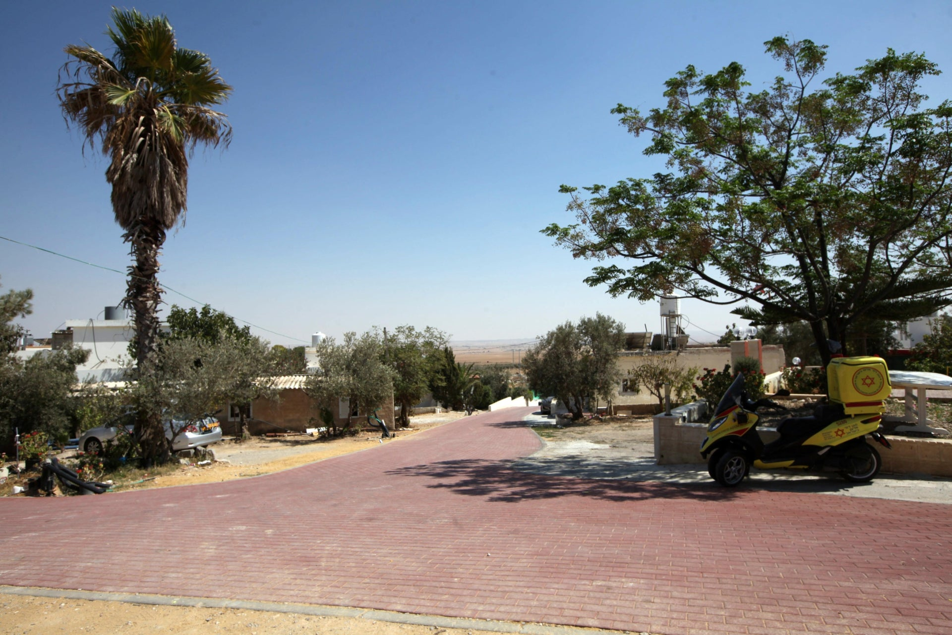 Drijat, the only non-Bedouin Arab village in the Negev desert, southern Israel.