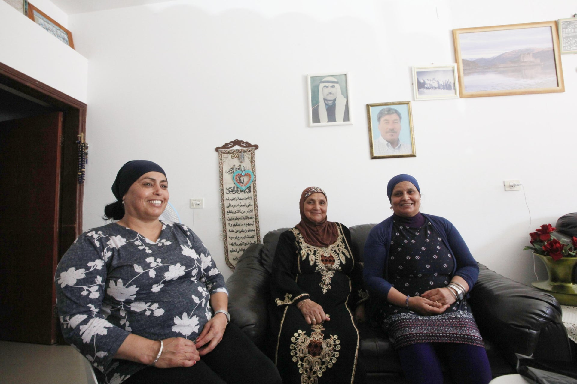 The Arab women hosting the participants at Ishak Abu-Hamad's house. Hebrew is only spoken as a last resort.