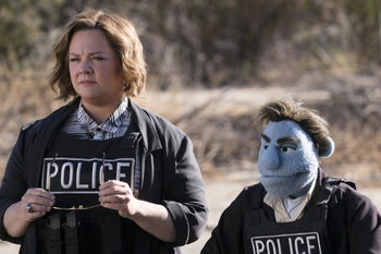 "Melissa McCarthy as Detective Edwards in ""The Happytime Murders."" Shunted to a minor role."