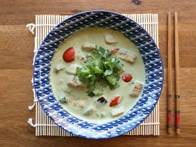 Green curry at Café Asia in Jerusalem's Cinematheque, August 2018