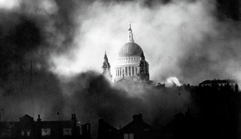The Nazi Blitz of London, 1940.