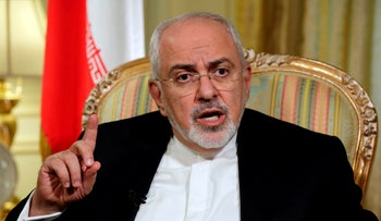 Iran's Foreign Minister Mohammad Javad Zarif is interviewed by The Associated Press, New York, U.S., April 24, 2018.