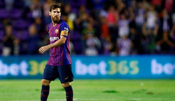Barcelona's Argentinian forward Lionel Messi at the Jose Zorrilla Stadium in Valladolid on August 25, 2018.