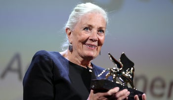 British actress Vanessa Redgrave is presented with the Golden Lion for Lifetime Achievement honour at the 75th Venice Film Festival, Italy August 29, 2018