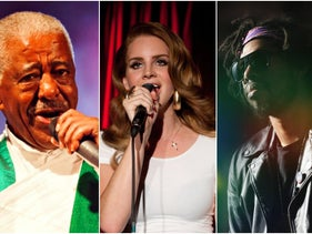 From left: Mahmoud Ahamed, Lana del Rey and Flying Lotus.