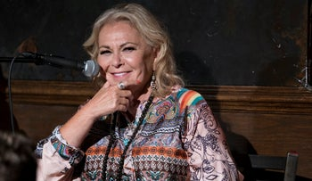 Roseanne Barr takes part in a special event and podcast taping at Stand Up NY, Thursday, July 26, 2018, in New York.