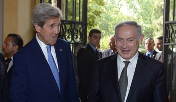 Meeting of Prime Minister Benjamin Netanyahu with then Secretary of State John Kerry in Rome, Italy, June 27, 2016