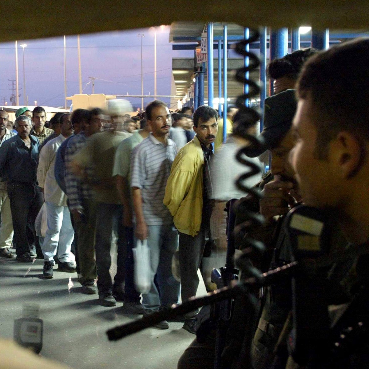 The Erez checkpoint between the Gaza Strip and Israel, 2006.