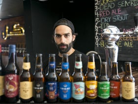 Qais the bartender at the Carakale brewery in Amman. For a truly local taste try the Dead Sea-rious Ale.