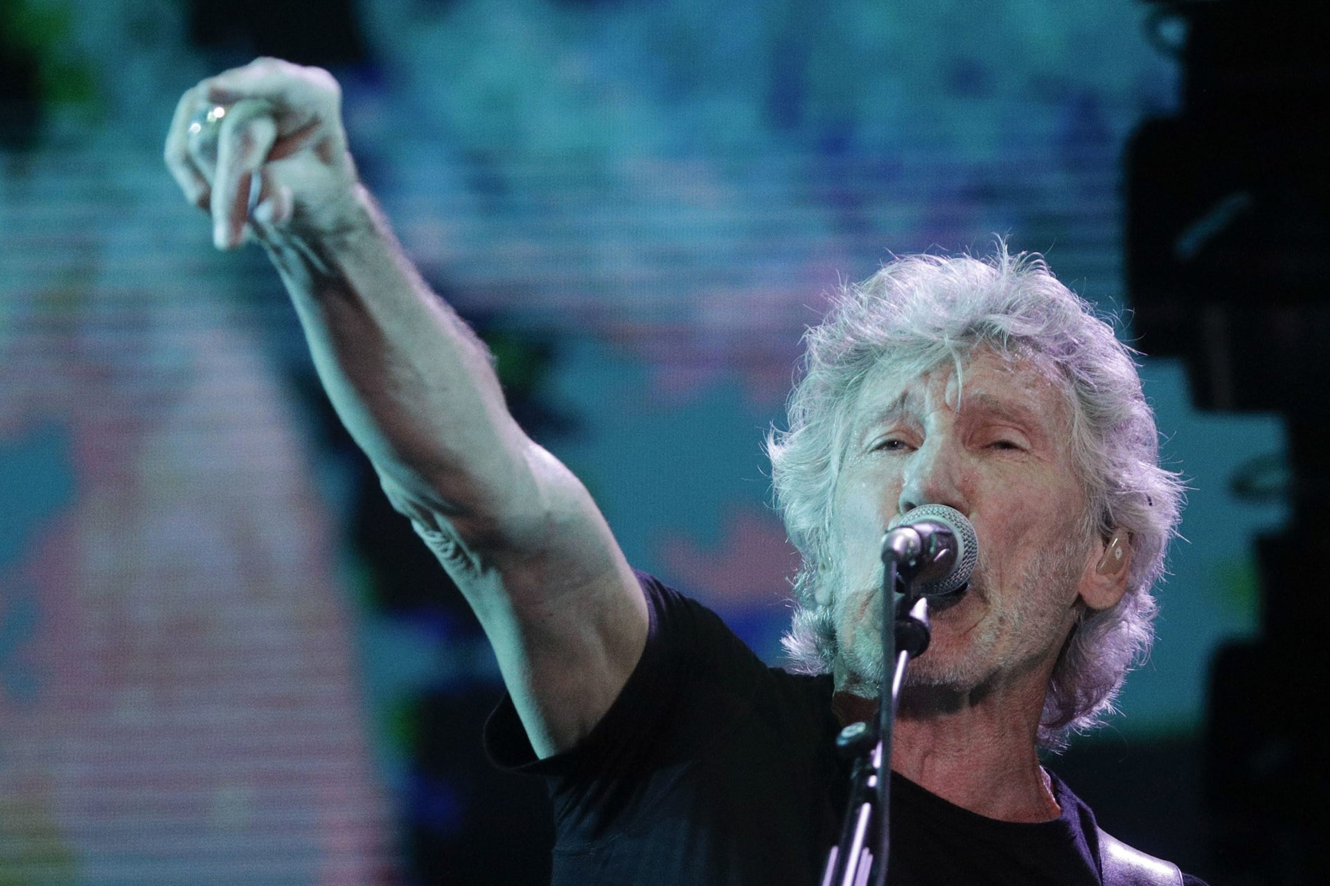 Roger Waters performing in Italy. One of the most prominent musicians linked to the boycott, divestment and sanctions movement