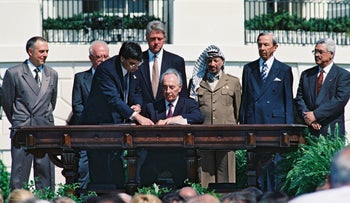 The signing of the Oslo Accords.
