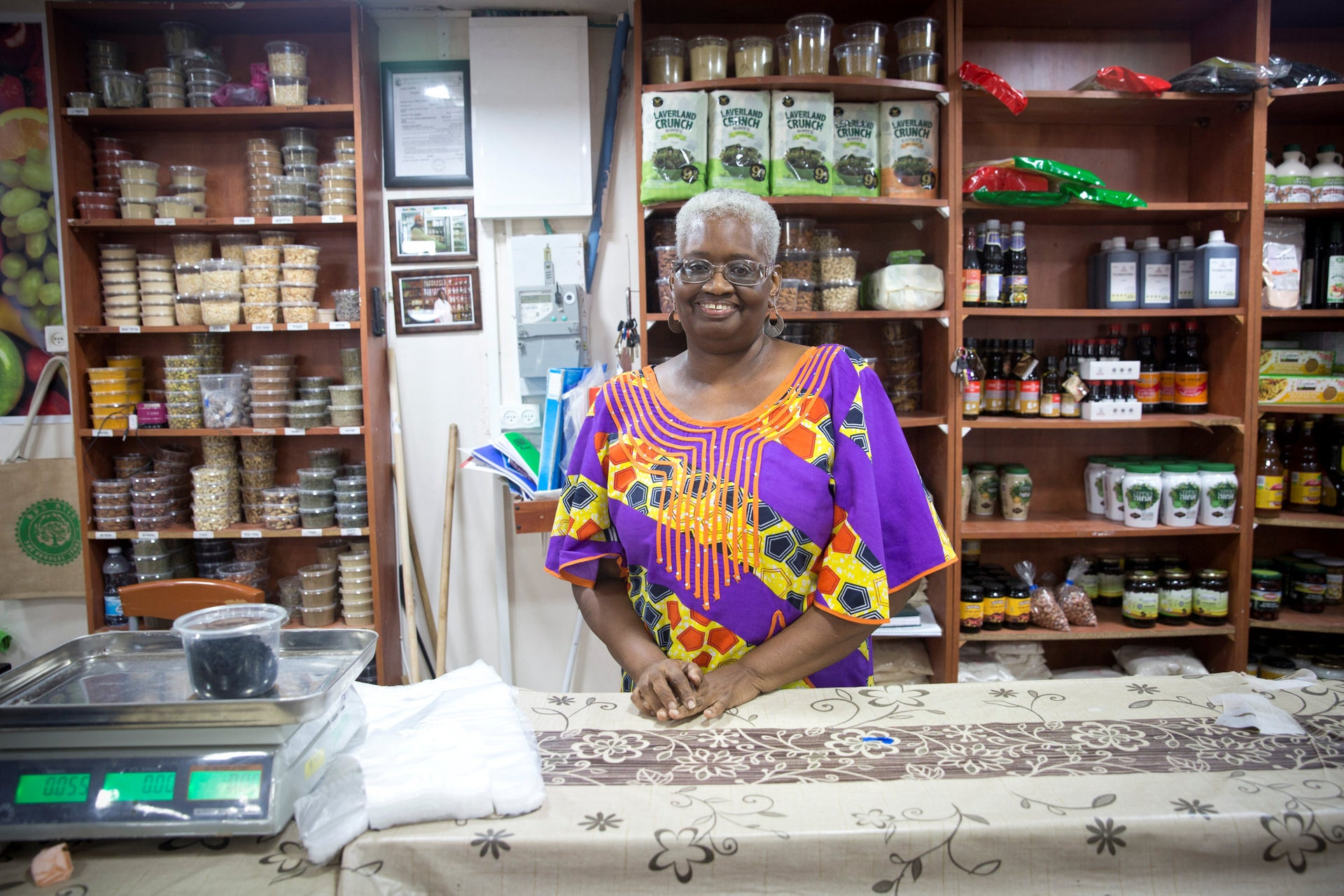 A woman from the Hebrew-Israelite community in Dimona, September 2018
