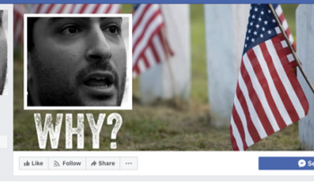 "Screenshot of the ""SJSU Students Against Hate"" Facebook page, featuring the Palestinian-American poet Remi Kanazi."