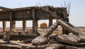 The ruins of the Yasser Arafat International Airport, Rafah. But 25 years after the first Oslo agreement, the airport, formerly  a symbol of the hopes for independence and peace, is long abandoned.