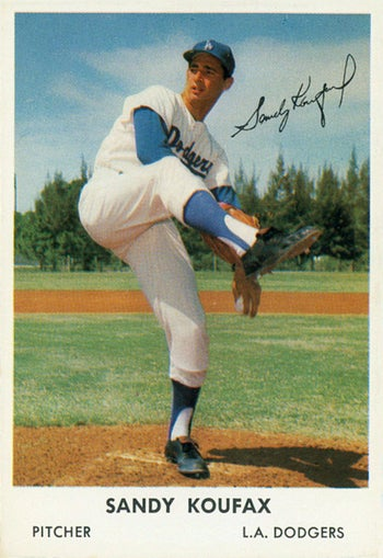 L.A. Dodgers' pitcher Sandy Koufax. Refused to play on Yom Kippur in 1965.