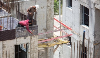 A construction site in Jerusalem, May 2018.