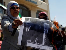 A Palestinian protest in Ramallah against the U.S. decision to cut funding to UNRWA. The Mideast is in a chaotic period of flux.