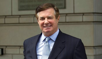 File photo: Paul Manafort, President Donald Trump's former campaign chairman, leaves the Federal District Court after a hearing, in Washington on May 23, 2018.