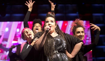 Netta Barzilai performs in Tel Aviv after her Eurovision win, May 2018.